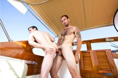 Sex walk on the yacht
