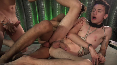 Caught Twink Slut Takes 2 Bare Cocks