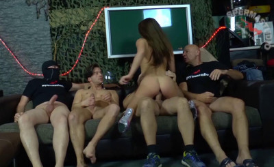 German Bukkake Orgy For Sexy Stella Love