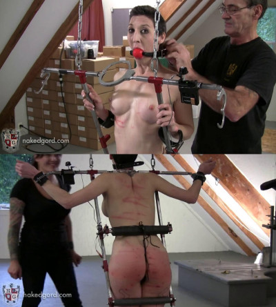Bondage, domination, torture and spanking for hot bitch part 2