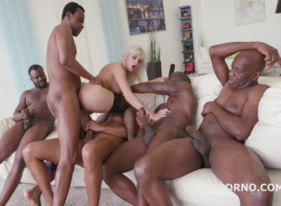Best 5on1 Interracial Gangbang With Ria Sun