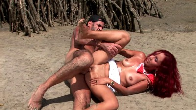 Redhead babe fucked by the sea