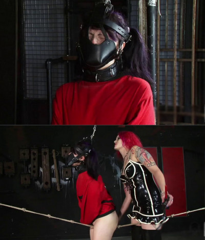 Extreme bondage, domination, torture and strappado for young slut