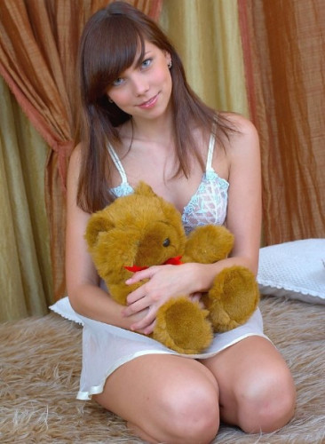 18xGirls - Olesya Strips Down To Pleasure Her Tight Pussy 720p