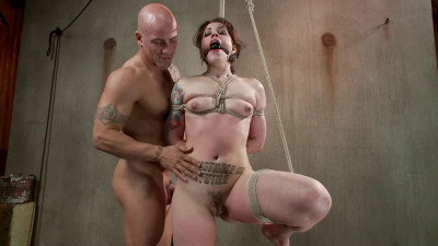 Bondage, strappado and torture for very hot brunette part 2