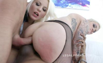 Lussy Shine & Mila Milan Assfucked & DP'ed By Huge Dicks