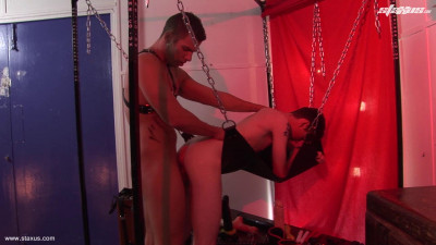 There's A Good Doggy! Leashed Young Twink Gets To Know His Place In A Sling-Fuck Frenzy! HD