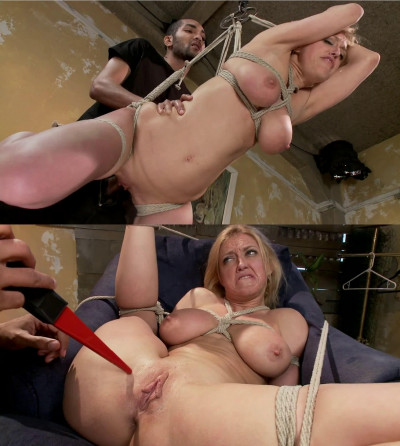 Hard bondage, suspension and torture for sexy blonde part1