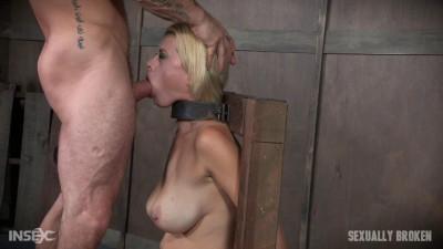 Brutal throat boarding!-rough bdsm porn