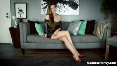 Description Goddess Harley - Cruel Chastity Cum Game