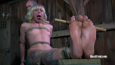 Bondage, spanking and torture for naked blonde part 2