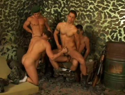 Uncooked Orgy Through Young Commandos