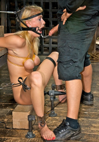 Allie James Is Locked Into A Automatic Blow Job Machine, With Huge Ring Gag , HD 720p