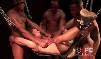 Amazing gangbang for hungry holes