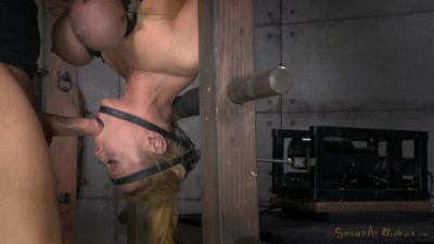 SexuallyBroken  Blond Bimbo, Inverted With Automatic Cocksucking Machine