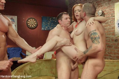 No Lifeguard On Duty: Penny Pax gets pounded by 5 cocks!