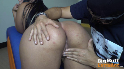 big booty latina in leopard dress get drilled hard