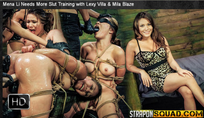 StraponSquad – Apr 17, 2015 – Mena Li Needs More Slut Training with Lexy Villa & Mila Blaze