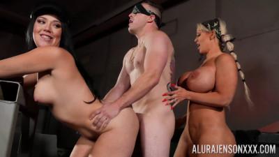 Megan Maiden & Alura Jenson - In 2 Girls, 1 Guy & A Key!