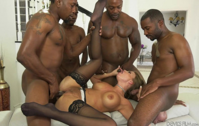 Hard Interracial Gangbang For Britney Amber