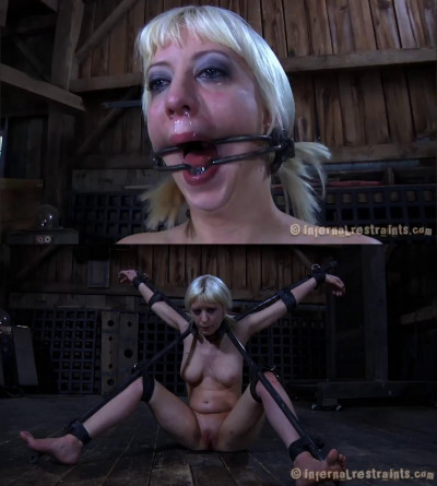 Hard bondage, spanking and torture for beautiful naked model