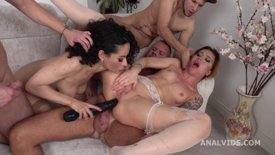 Russian Roses, Stacy and Monica Wild 3on2 Balls Dap