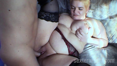 BBW wife with big tits inseminated full hd