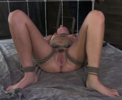 Sexy Mid Western Girl Suffers Category 5 Bondage Fucking And Deep Throating!