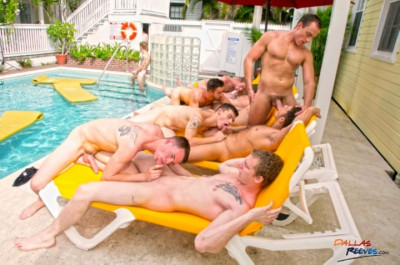 Orgy boys by the pool — part 1