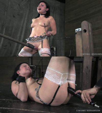 Hard bondage, spanking and torture for beautiful brunette part 1
