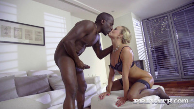 Victoria Pure, finishes interracial anal with creampie