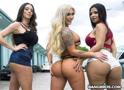 Ariella Ferrera, Rose Monroe, Brandi Bae, Stella Raee - Orgy to get the Car Back 1080p
