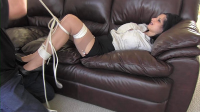 Hannah's weekend bound and gagged with her boss