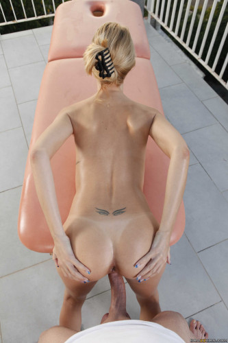 Description Sexy Blonde Has A Day Of Massage Today