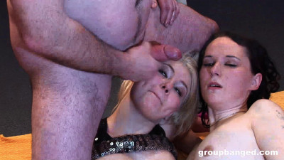 Two Lesbians Gangbang For Their Amusement