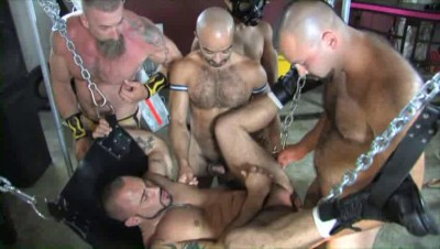 Rough Gangbang With Piss Whores