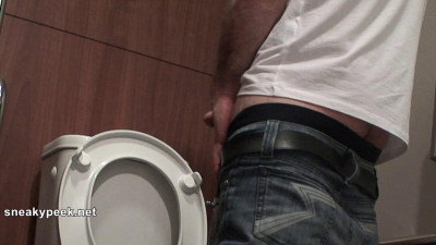 This is one dirty and sexy fucker! He sits down for a dump