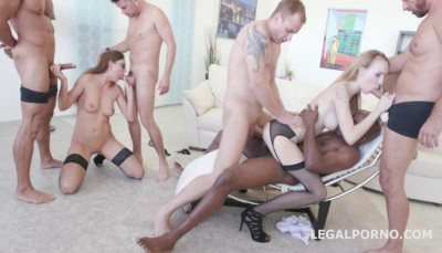 Psico Double Fuck Gangbang with Belle Clair and Tina Kay