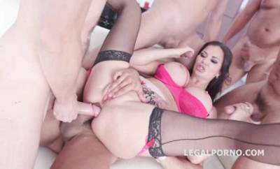 Total Gangbang With Double Anal For Jasmine Jae