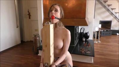 Tight bondage, domination and hogtie for very sexy slavegirl