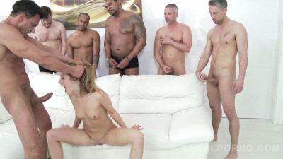 Alexis Crystal intense gangbanged by many huge dicks