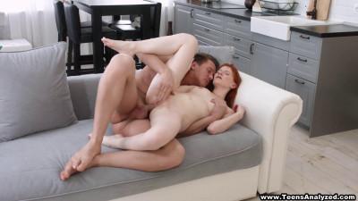 Description Brian & Lili-Redhead taking her first anal