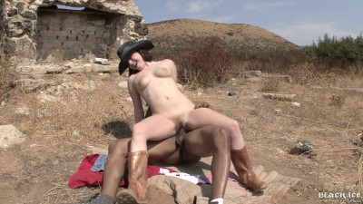 Tatiana Kush Gets Hairy Bush Fucked Outdoors In Bright Sunlight