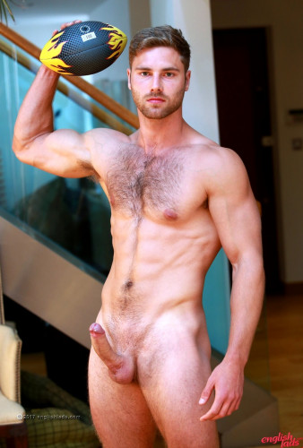 Straight Young Rugby Hunk Tom Shows us his Hairy Body