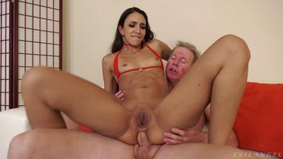 Petite Sexy Latina Angelica Cruz Enjoys Old Cock