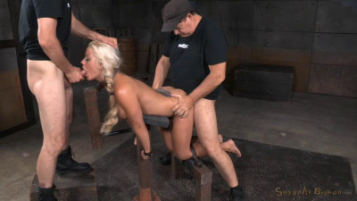 Holly Heart shackled down doggystyle