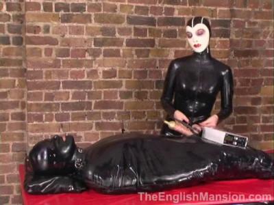 BDSM Latex The English Mansion - TeasedandMachineMilked Complete - Domination HD