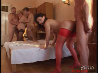 Perverse matures home orgy