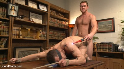Hot Mormon Jock Fucked in Bondage to Prove His Devotion to the Church