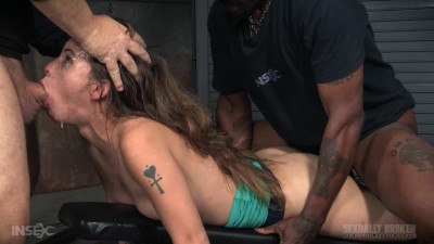 Messy little Devilynne trained on fuckboard by BBC as she melts into a drooling cumslut